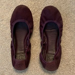 Tory Burch Flats Purple Size 38